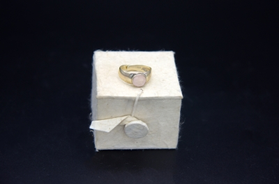 Sterling Silver Round Shape Ring- Rose