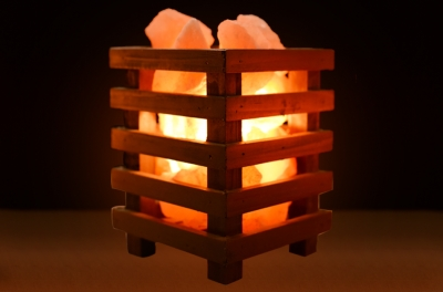 Himalayan Pink Salt Lamp Basket