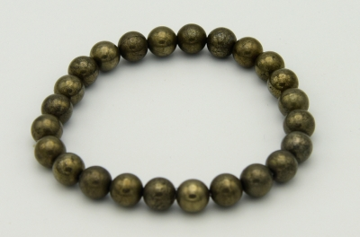 Golden Pyrite 8mm Bracelet
