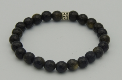Golden Obsidian Dimond Cut Bracelet