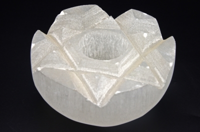 Selenite Lotus Shaped Candel Holder