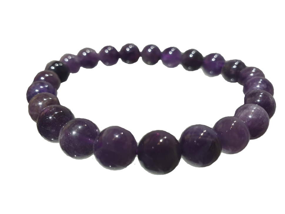 Amethyst High Quality Bracelet 8 MM
