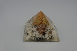 Rainbow Moonstone Orgonite Pyramid