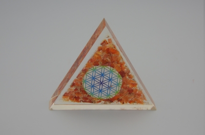Carnelian Orgonite Triangle