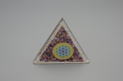 Amethyst -  Orgonite Triangle