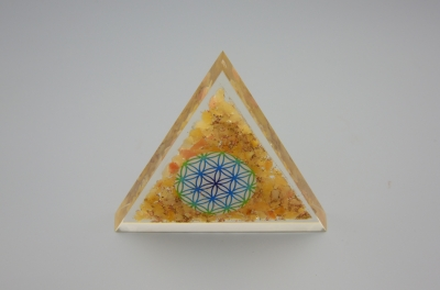 Yellow Aventurine Orgonite Triangle