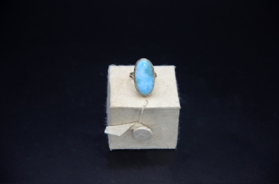 Sterling Silver Mix Shape Ring - Larimar
