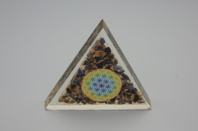 Sodalite Orgonite Triangle