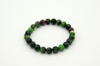 Ruby Zoisite -  Bracelet 8 mm