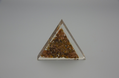 Tiger's Eye Orgonite Triangle
