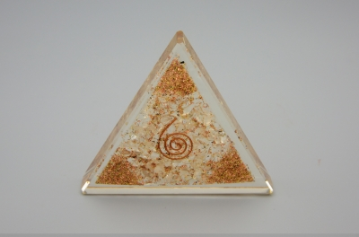 Clear Quartz Orgonite Triangle