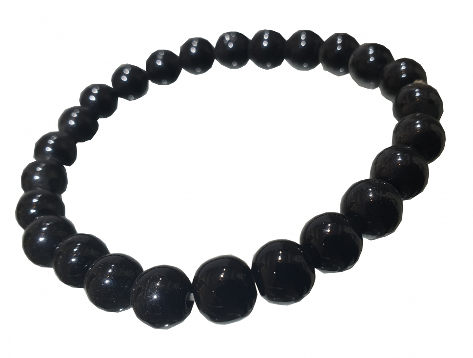 Black Tourmaline & MM Bracelet